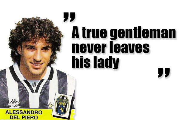 Alessandro Del Piero gör sitt första mål