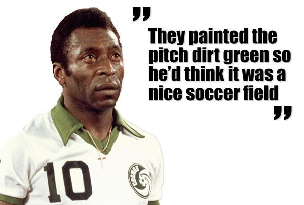 Pelé debuterar för New York Cosmos